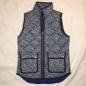 J.Crew Liberty Fabric Floral Vest
